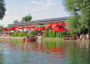 Außenbereich Restaurant am See
